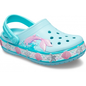 Funlab Mermaid Band Clog Kid's Ice Blue