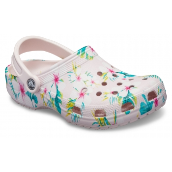 Classic Seasonal Graphic Clog Barely Pink/Floral