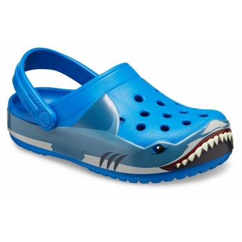 Funlab Shark Band Clog Kids Bright Cobalt