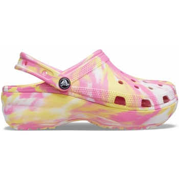 Crocs™ Classic Platform Marbled Clog Women`s Pink Lemonade/Multi