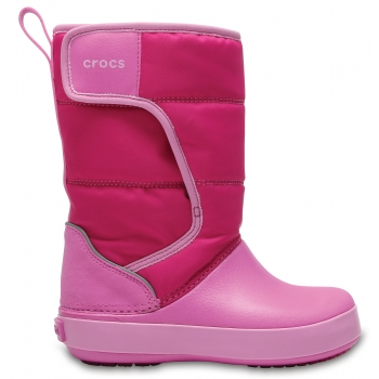 Crocs™LodgePoint Snow Boot K Candy Pink/Party Pink