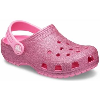 Kids' Classic Glitter Clog Pink Lemonade