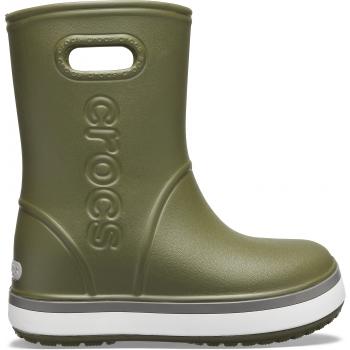 Crocband Rain Boot K Army Green/Slate Grey