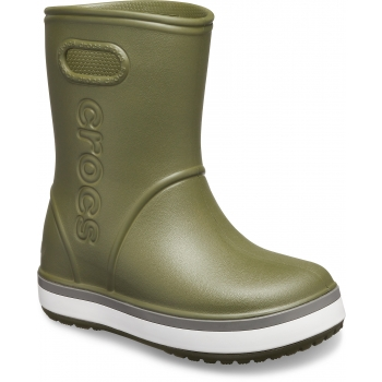 Crocband Rain Boot K Army Green/Slate Grey