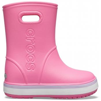 Crocband™ Rain Boot K Pink Lemonade/Lavender