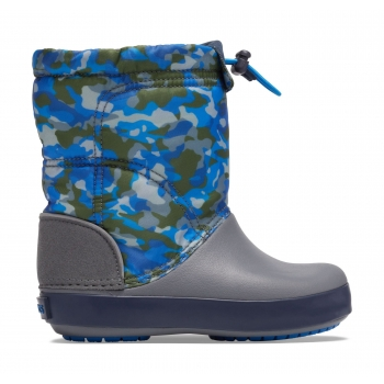 Crocband LodgePoint Graphic Winter Boot K Army Green / Charcoal