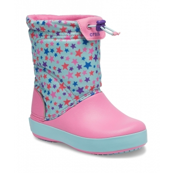 Crocband LodgePoint Graphic Winter Boot K Ice Blue / Pink Lemonade