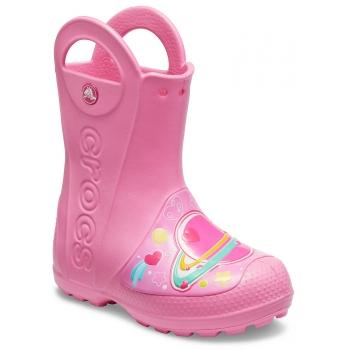 FunLab Galactic Hearts Rain Boot K, Pink Lemonade
