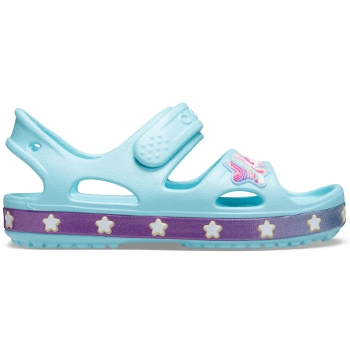 Crocband II Sandal K Funlab Unicorn Charm, Ice Blue