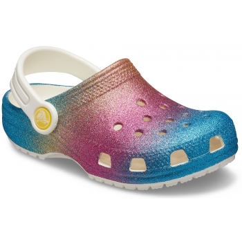 Classic Ombre Glitter Clog Kids Oyster/Multi