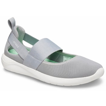 Literide Mary Jane Light Grey / White