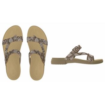Crocs Tulum Toe Post Sandal W, Mushroom/Stucco