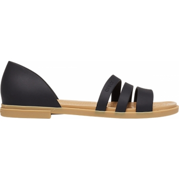 Tulum Open Flat Black/Tan