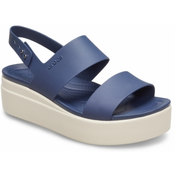 Brooklyn Low Wedge Navy/Stucco