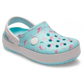 Crocband Multi Graphic Clog Kid's Ice Blue