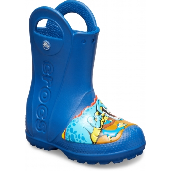 Funlab Dino Rain Boot Kid's Blue Jean