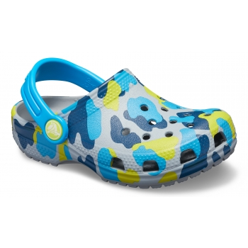 Classic Seasonal Graphic Clog Kid's Light Grey