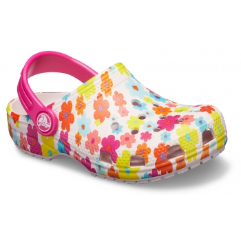 Classic Seasonal Graphic Clog Kid's Barely Pink