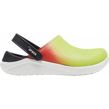 Crocs™LiteRide Color Dip Clog Lime Punch / Scarlet / Almost White