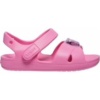 Classic Cross Strap Charm Sandal Kids Pink Lemonade
