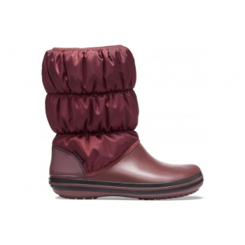 Winter Puff Boot W Burgundy/Black