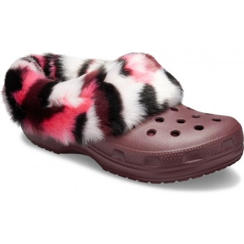 CrocsTM Classic Mammoth So Luxe Clog, Burgundy/Multi