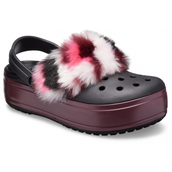 CrocsTM Crocband Platform So Luxe Clog, Black/Burgundy