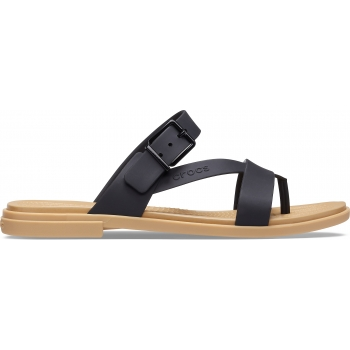Crocs™ Tulum Toe Post Sandal W, Black/Tan