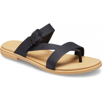 Crocs Tulum Toe Post Sandal W, Black/Tan