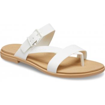 Crocs Tulum Toe Post Sandal W, Oyster/Tan