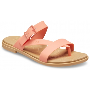 Crocs Tulum Toe Post Sandal W, Grapefruit/Tan