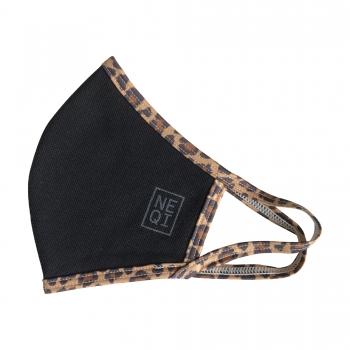 NEQI korduvkasutatav kaitsemask / Must leopard / S-M / 3tk