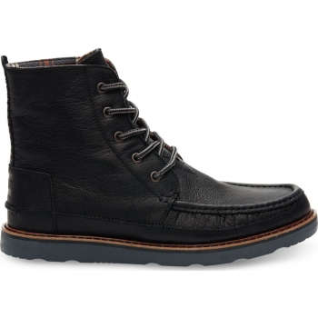 Full Grain Leather Men's Searcher Boo Black