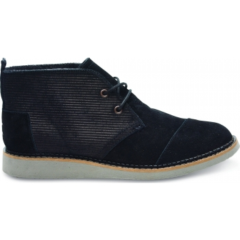 Embossed Suede Men's Mateo Chukka Boot Black