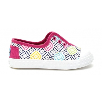 Canvas Vintage Tiles Kid's Zuma Sneaker Pink