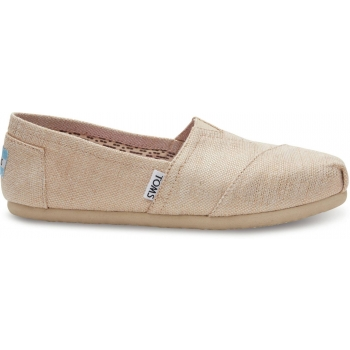 Metallic Burlap Women's Alpargata Natural