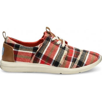 Plaid Women's Del Rey Sneaker Red / Warm Tan