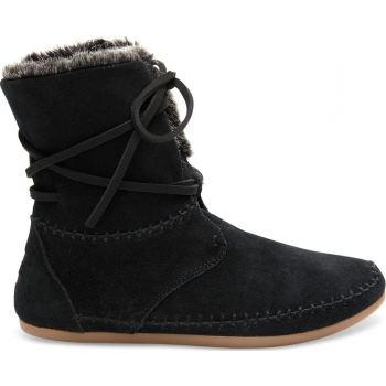 Suede Faux Hair Women's Zahara Bootie Black