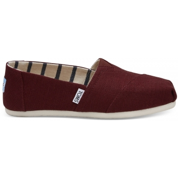 TOMS Heritage Canvas Women's Alpargata, Black Cherry