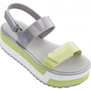Slash Plat Sandal Grey / Yellow