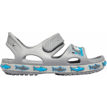 FunLab Shark Band Sandal K Light Grey