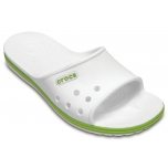 Crocband II Slide White/Volt Green