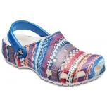 Classic Graphic Clog Blue Jean/ White