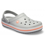 Crocband Light Grey/Bright Coral