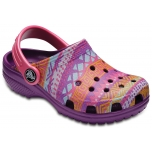 Classic Graphic Clog K Amethyst