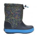 Crocband LodgePoint Boot Graphic K Slate Grey/Navy