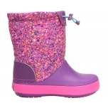 Crocband LodgePoint Boot Graphic K Neon Magenta/Amethyst