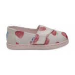 TOMS Strawberries And Cream Kid's Alpargata Birch