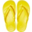 Crocband Flip Bright  Lemon/White